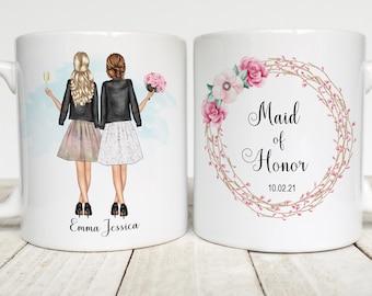 Maid of Honor Mug, Will You Be My Maid of Honor, Bridesmaid, Bridal Party, Best Friend, Wedding Keepsake,  Personalized Coffee Mug