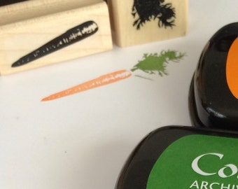 Easter Stamp - Carrot Rubber Stamp -Scrapbook Stamp - Vegetarian Stamp