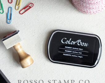 Black Pigment Ink Pad - ColorBox Pigment Ink Pad - Dark Green Ink Pad