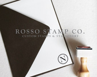 Monogram Stamp, Wedding Monogram Stamp, Custom Stamp - Style No. 2