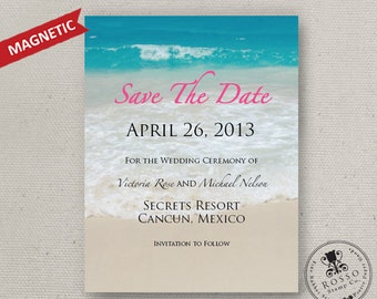 Destination Save the Date Set of 20 Magnets - Save the Date Magnet - Magnetic Save the Date