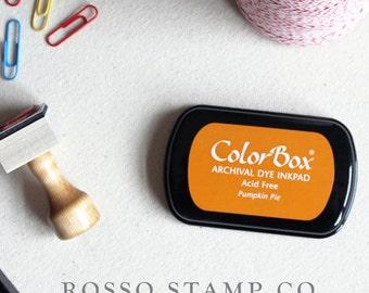 Pumpkin Pie Ink Pad - ColorBox Archival Ink Pad - Orange Ink Pad
