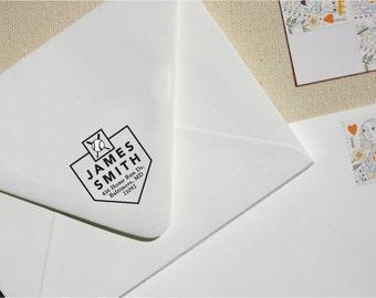 Custom Stamp - Return Address Stamp - Baseball Themed Address Stamp