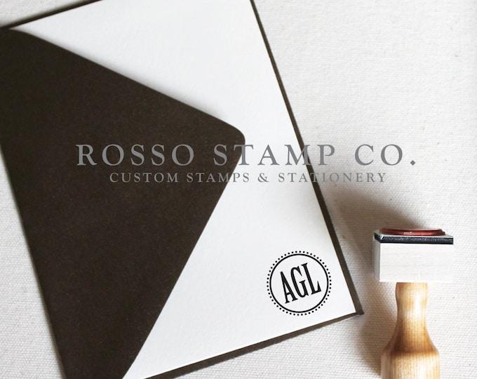 Featured listing image: Monogram Stamp, Wedding Monogram Stamp, Custom Stamp - Style No. 8