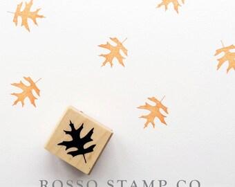 Black Oak Leaf Stamp - Autumn Leaf Stamp - Fall Stamps