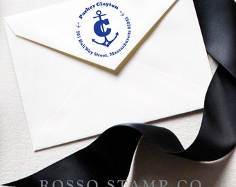 Anchor Stamp - Return Address Stamp - Personalized Stamp - Monogram Address Stamp - Personalized Address Stamp