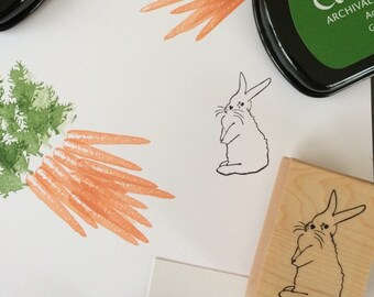 Easter Stamp - Bunny Rubber Stamp - Rabbit Stamp - Easter Bunny Stamp