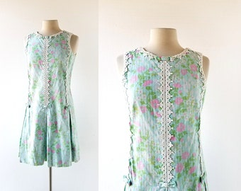 Lilly Pulitzer Dress   Vintage 1960s Dress   60s Floral Dress   Small S