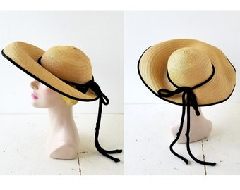 e6b193bb 1940s Straw Hat | New York Creation Hat | 40s Sun Hat