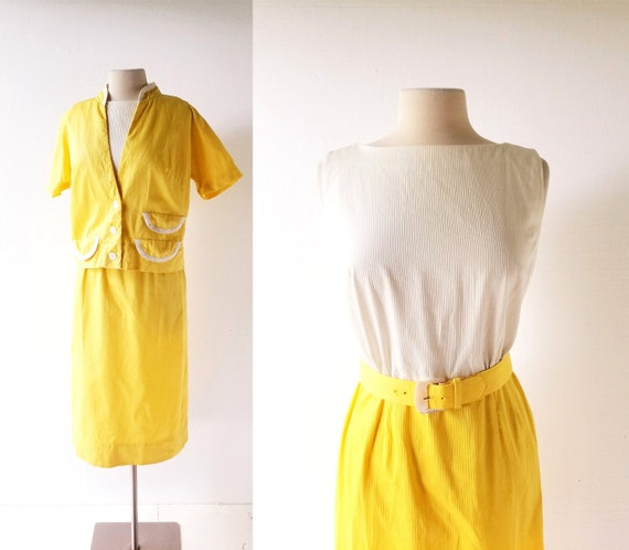 Yellow 1960s Dress | Mr. Mort | Dress With Jacket