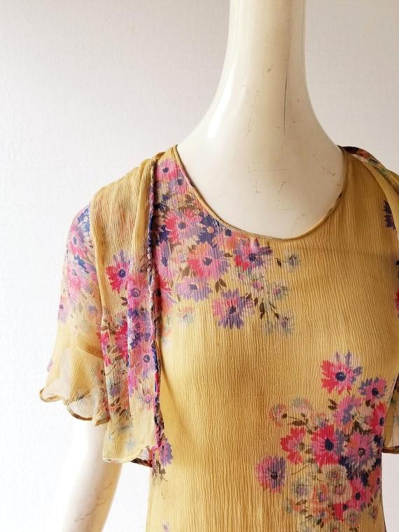 Vintage 1920s Dress | 1920s Floral Dress | 20s Dr… - image 4