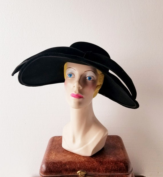 Vintage 1950s Hat | New Look Hat | Halo Hat