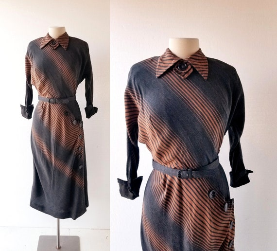 Vintage 1940s Dress | Hildy Dress | 40s Dress | XS