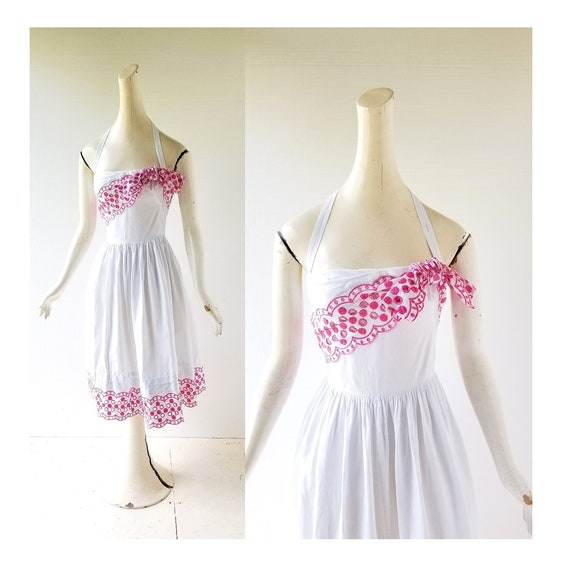 Vintage 1940s Sundress | Tina Leser | 40s Dress |