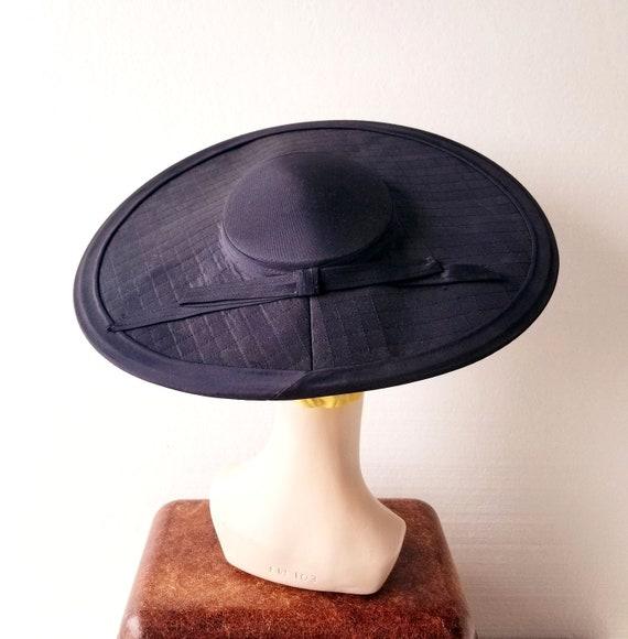 1940s Cartwheel Hat | New Look Hat | 40s Hat | Siz