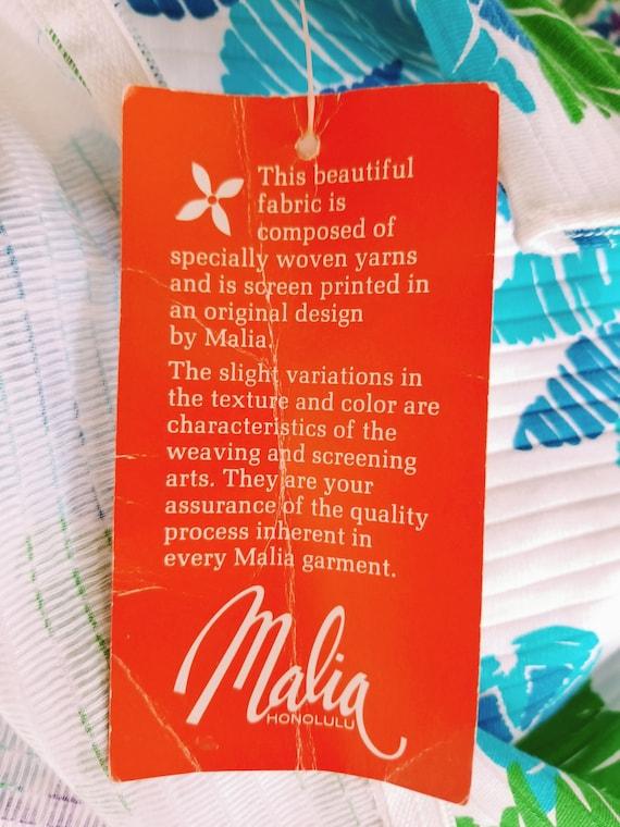 1960s Maxi Dress   Malia Honolulu   Cotton Hawaii… - image 7