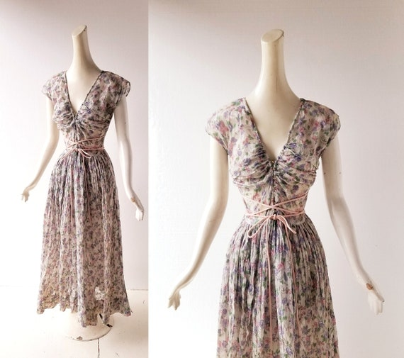 Claire McCardell Dress | 1940s Dress | 40s Gown |