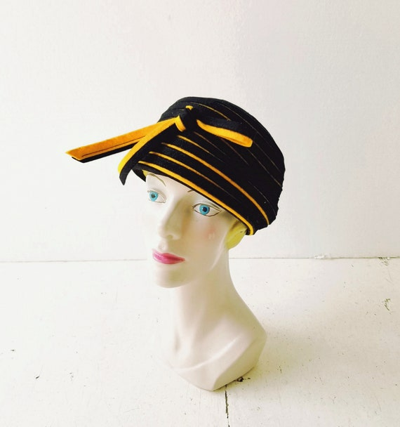 Vintage Pillbox Hat | 1960s Hat | 60s Hat