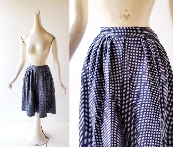 1950s Full Skirt | Silk Taffeta Skirt | 50s Skirt