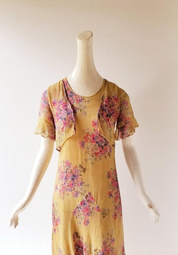 Vintage 1920s Dress | 1920s Floral Dress | 20s Dr… - image 7
