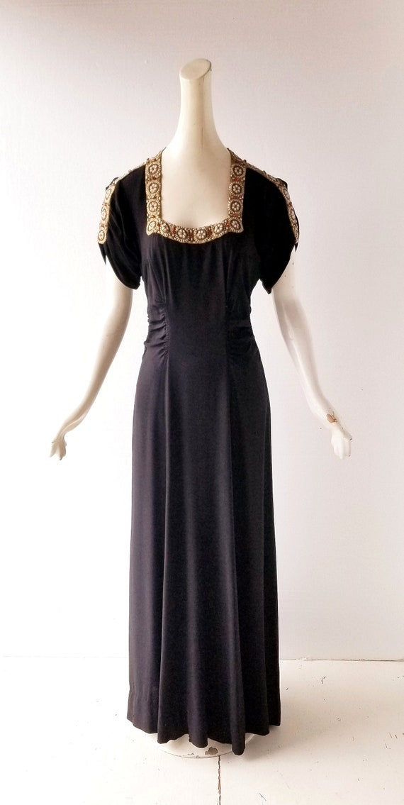 Vintage 30s Gown | a la Schiaparelli | 30s Dress … - image 6