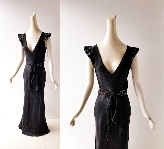 Vintage 1930s Gown | Athena | 30s Dress | XS S