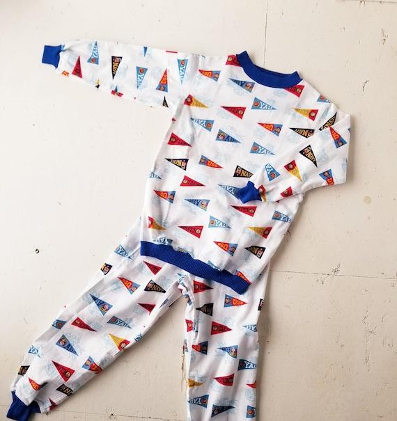 Vintage 1950s Pajamas | College Football Pajamas |