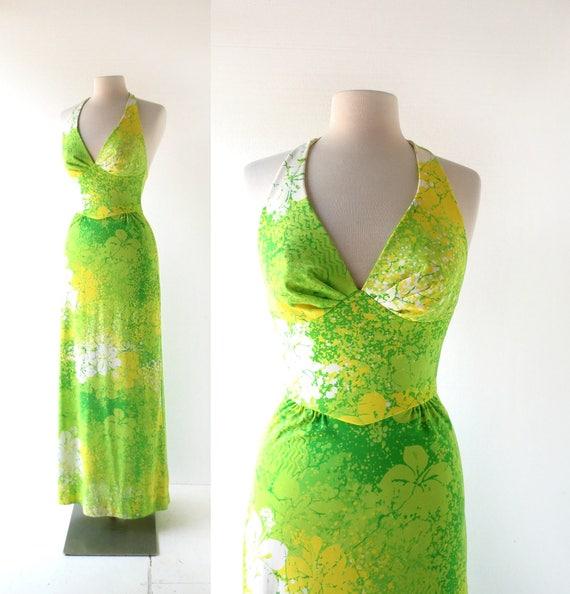Vintage Catalina Dress | Swim Dress | 70s Halter D