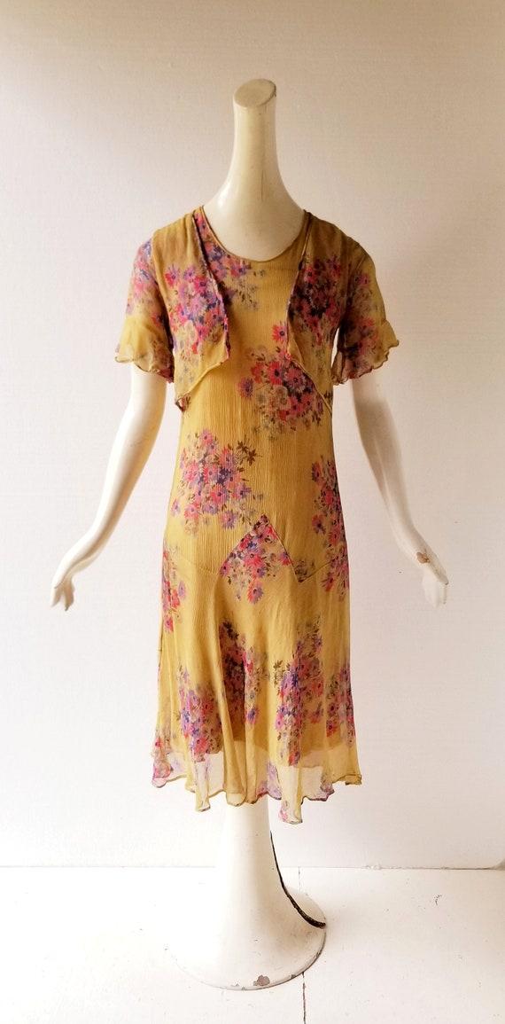 Vintage 1920s Dress | 1920s Floral Dress | 20s Dr… - image 2
