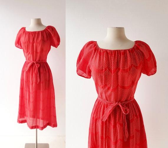 1930s Red Dress | Maisonette Frocks | 30s Dress |