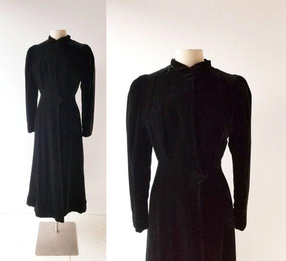 1930s Velvet Coat | Princess Coat | 30s Coat | XXS
