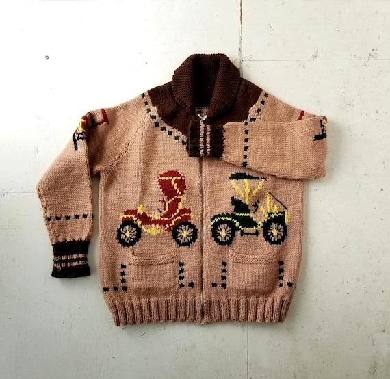 Vintage Cowichan Sweater | 50s Cowichan | Novelty