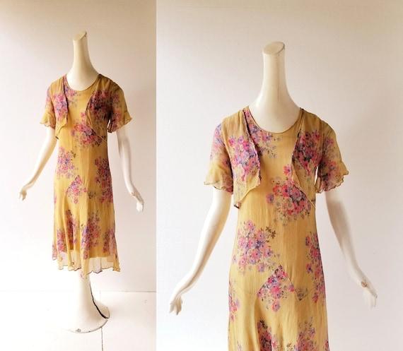 Vintage 1920s Dress | 1920s Floral Dress | 20s Dr… - image 1