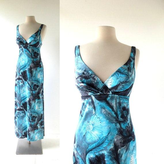 Catalina Swim Dress | 1970s Maxi Dress | 70s Dress