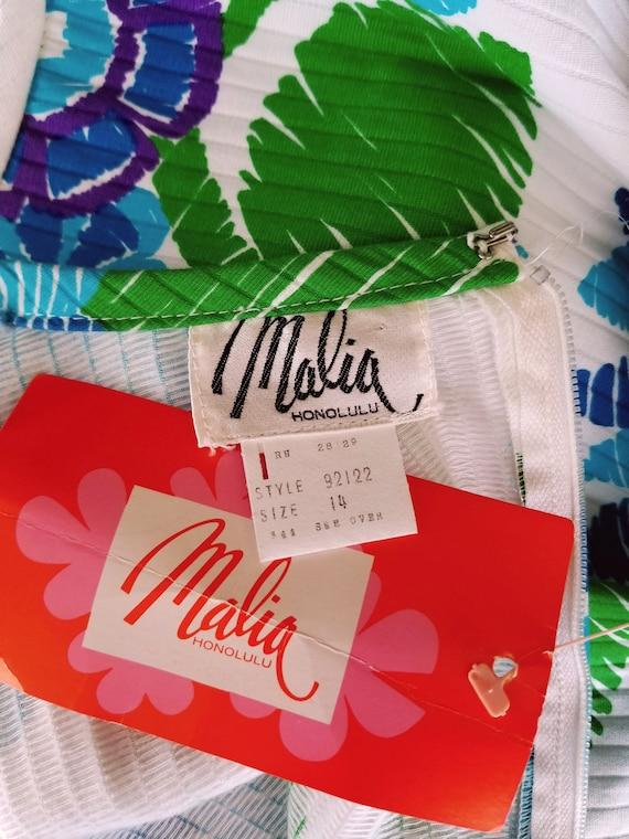 1960s Maxi Dress   Malia Honolulu   Cotton Hawaii… - image 3