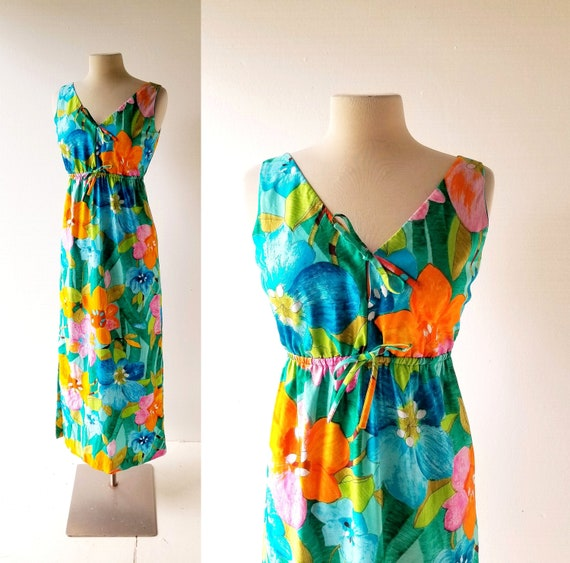 Vintage Malia Dress | 60s Hawaiian Dress | 1960s D