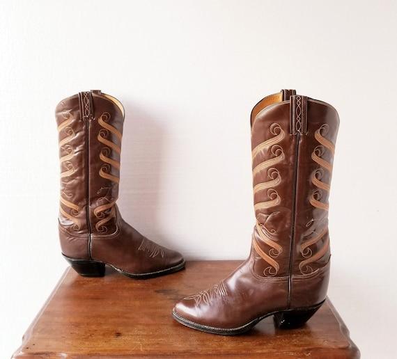 Tony Lama Boots | Black Label | 1980s Boots | Size