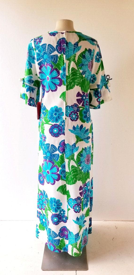 1960s Maxi Dress   Malia Honolulu   Cotton Hawaii… - image 5