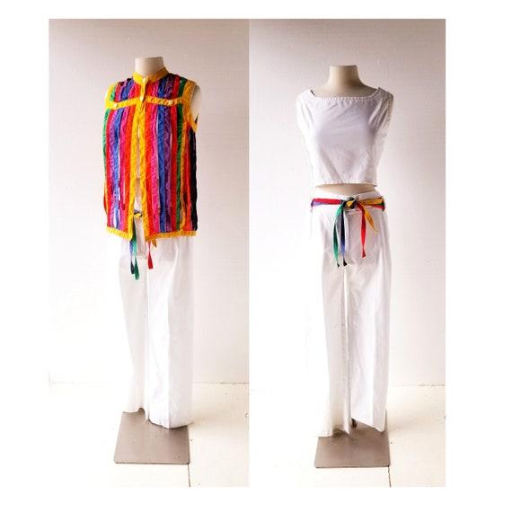 Vintage 60s Pant Suit | Technicolor Dream | Rainbo