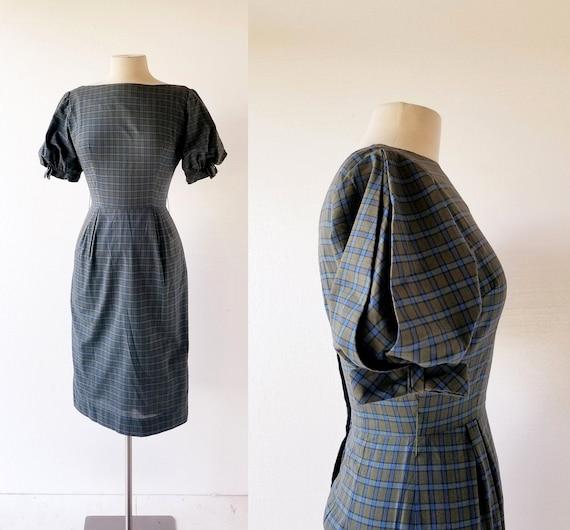1950s Plaid Dress   Le Récital   50s Dress   XXS