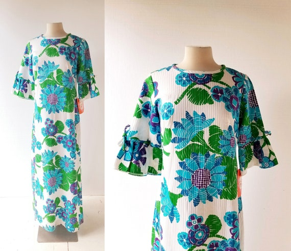 1960s Maxi Dress | Malia Honolulu | Cotton Hawaiia