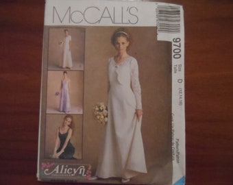 08f4a77a92a McCalls 9700 Misses Bridal Gown Formal Wear Prom Dress Pattern Sizes 12-16  UNCUT