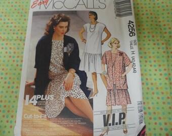 McCalls 4256 Women's Dress and Jacket Pattern Sizes 40-42-44 Uncut