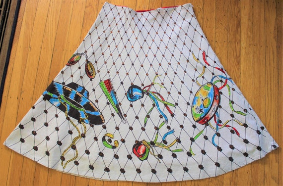 1950s H Bar C hand-painted flamenco skirt