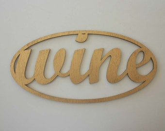 Wine Gold Mahogany Sign Engraved Wood Sign Winery Wine Tasting