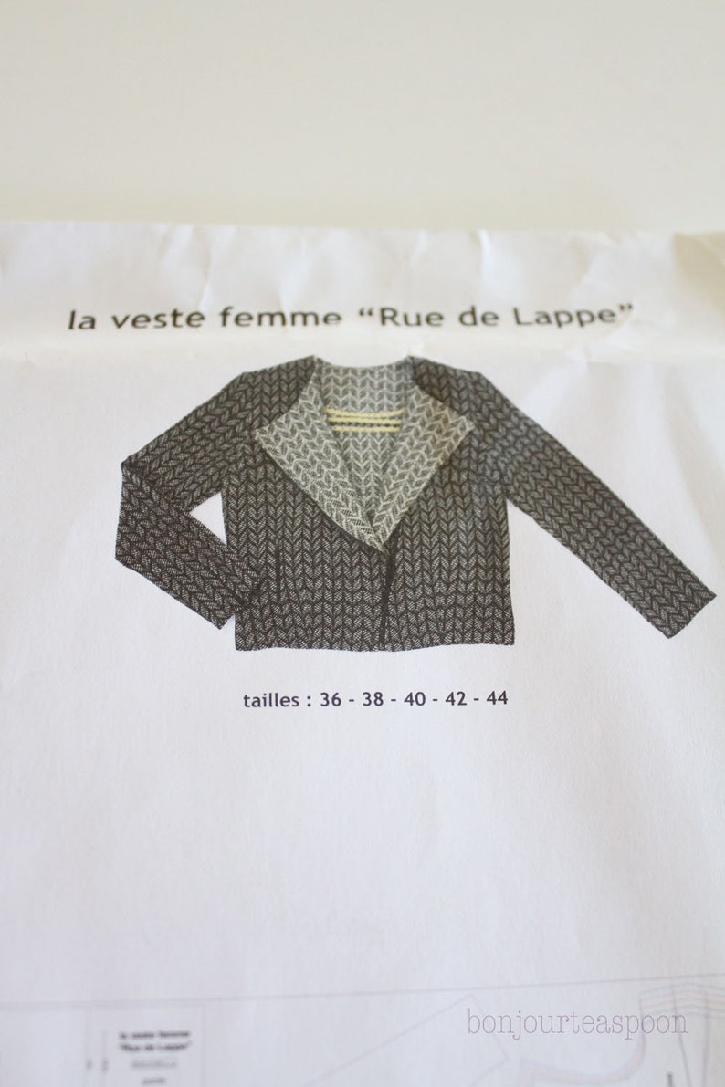 60bad9b8c40 Patron de couture de veste de La droguerie patron de La veste