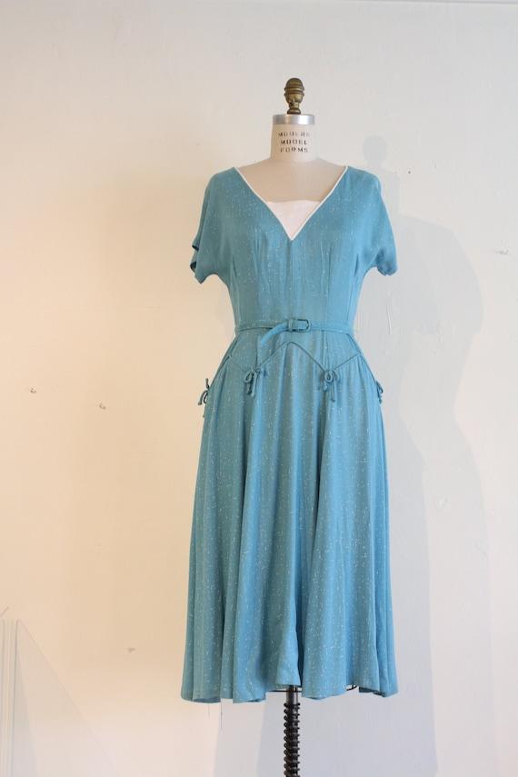1930's Vintage Women's Dress, Hand Made 1930's Vin