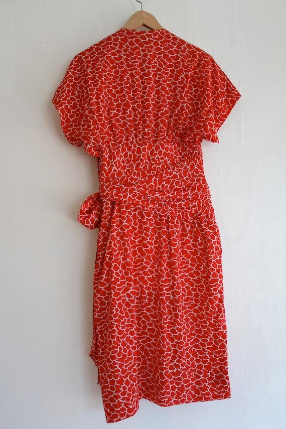 Vintage Silk Albert Nipon Dress, Size 2 Red Silk … - image 7