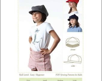 Tween Hat Pattern, Tween Knit Hat Sewing Pattern, Tween Hat Sewing Pattern, Sailor Hat Pattern, womens hat sewing pattern, kids hat pattern