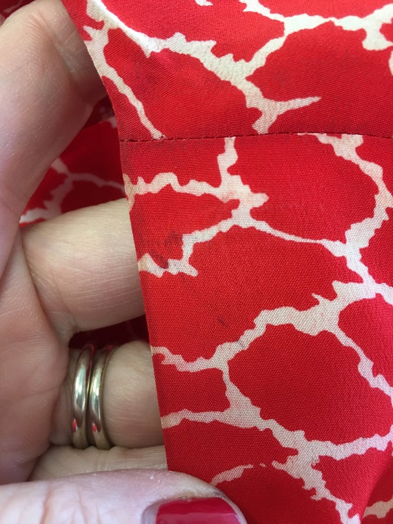 Vintage Silk Albert Nipon Dress, Size 2 Red Silk … - image 10